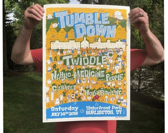 Twiddle Tumble Down 2016 poster - artist's proof