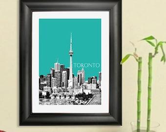 Toronto Skyline Poster #1- Toronto Canada Skyline Art Print - 8 x 10 Choose Your Color