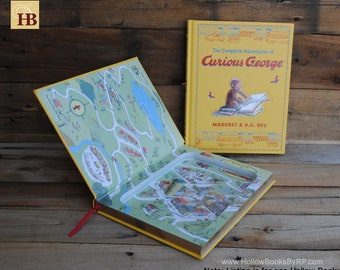 Hollow Book Safe - Curious George - Leather Bound