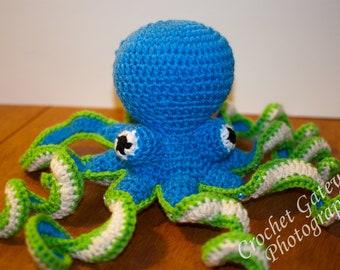 Octopus, Pattern, baby Octopus Pattern, Crochet Octopus, Sea World, Baby, Nursery, Sea Animals