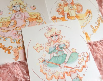 Magical Mario Princess Prints