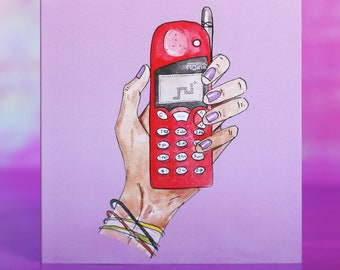 Nokia phone with snake greeting card