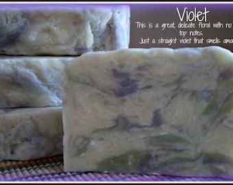 Violet - Rustic Suds Natural - Organic Goat Milk Triple Butter Soap Bar - 5-6oz. Each