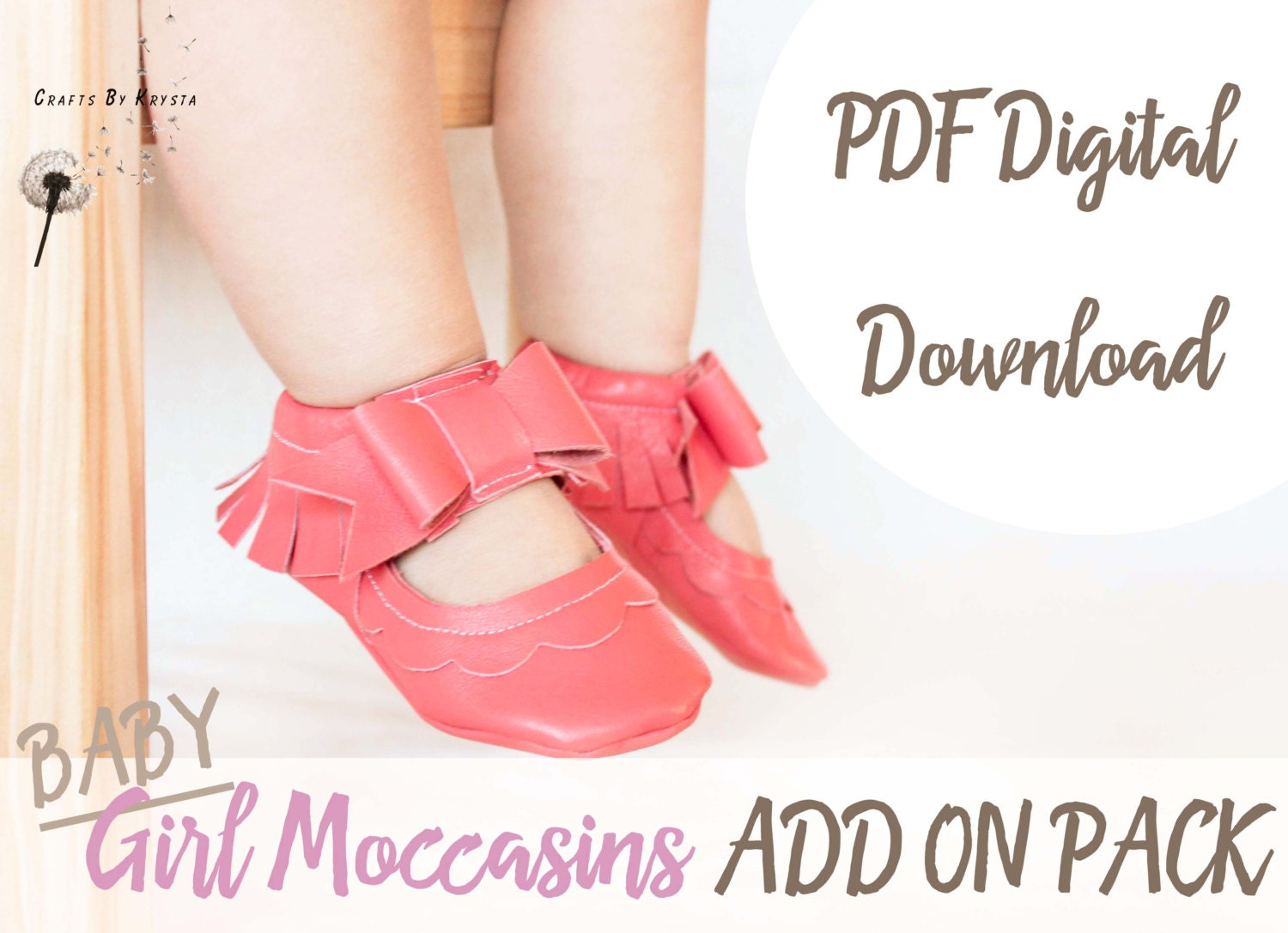ADD ON PACK - Baby Moccasin Pattern - Leather Bow Moccasin Sewing ...