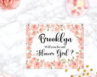 Will You Be My Flower Girl Puzzle Flower Girl Proposal Flower Girl Gift  Cute Gift Keepsake Memento Personalized Flower Girl Gift design 101