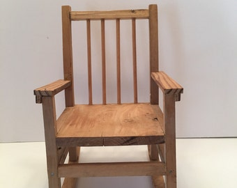 Wooden Chair ~ Big Doll Chair ~ Home Decor ~ Vintage