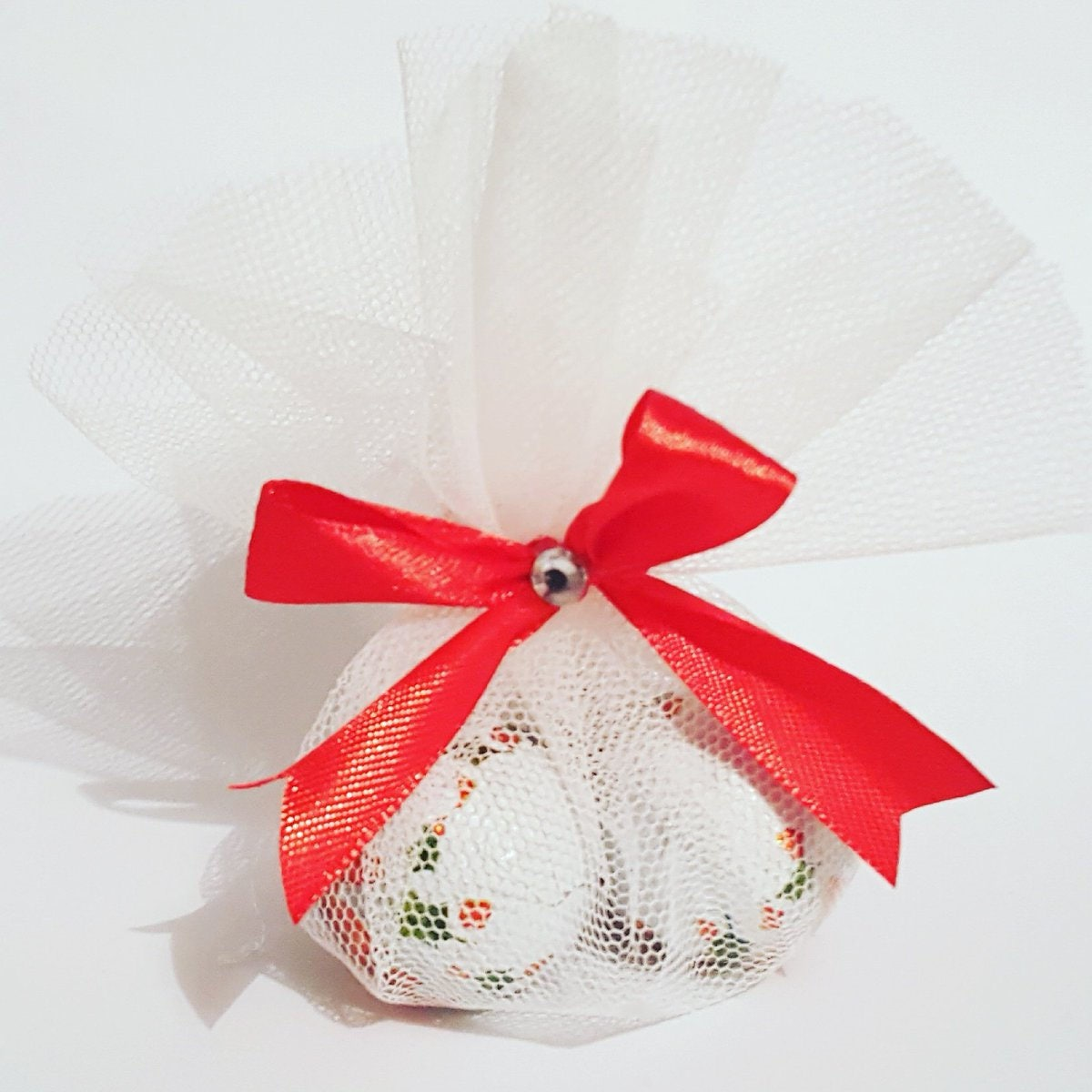 Christmas chocolate favours Weddings Table setting
