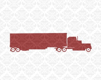 Semi Svg, Truck Driver Svg, Semi Truck Svg, Hand Drawn Svg, 18 wheeler svg, Truck Driver Shirt Svg, Truck Svg, big rig svg, Cricut Svgs