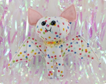 Rainbow Polka Dots - Mini Bat Plush