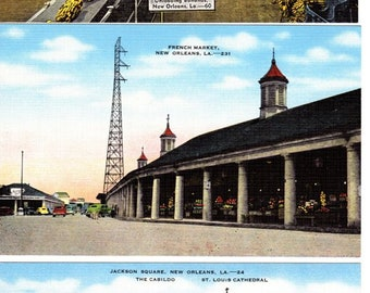 Vintage Linen Postcards New Orlean's Louisiana ~ Lot of 3 Postcards