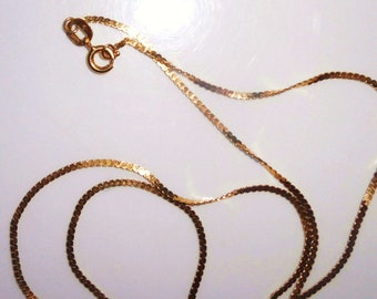 "16"" 14K Solid Gold Chain Twisted Link Necklace(#2)- Marked"