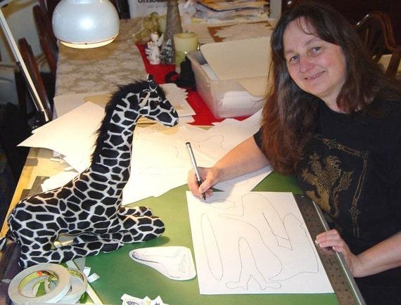 Nähen Muster stellen eine Giraffe Mutter gefüllt tierischen