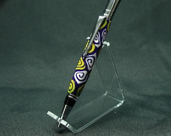 "Handmade Polymer Clay ""Executive"" Style Pen"