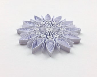 Quilled Snowflakes Paper Quilling Art Christmas Tree Decor Winter Hanging Ornaments Gifts Toppers Mandala Office Corporate White Clear