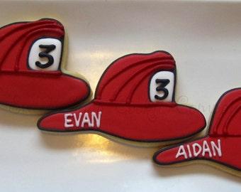 Fire Helmet cookies 2 dozen