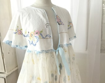 Over frock dress top vintage fabric