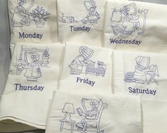 Days of the Week Dishtowel Set