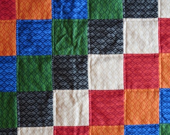 Quilted Wall Hanging in Jewel Tones