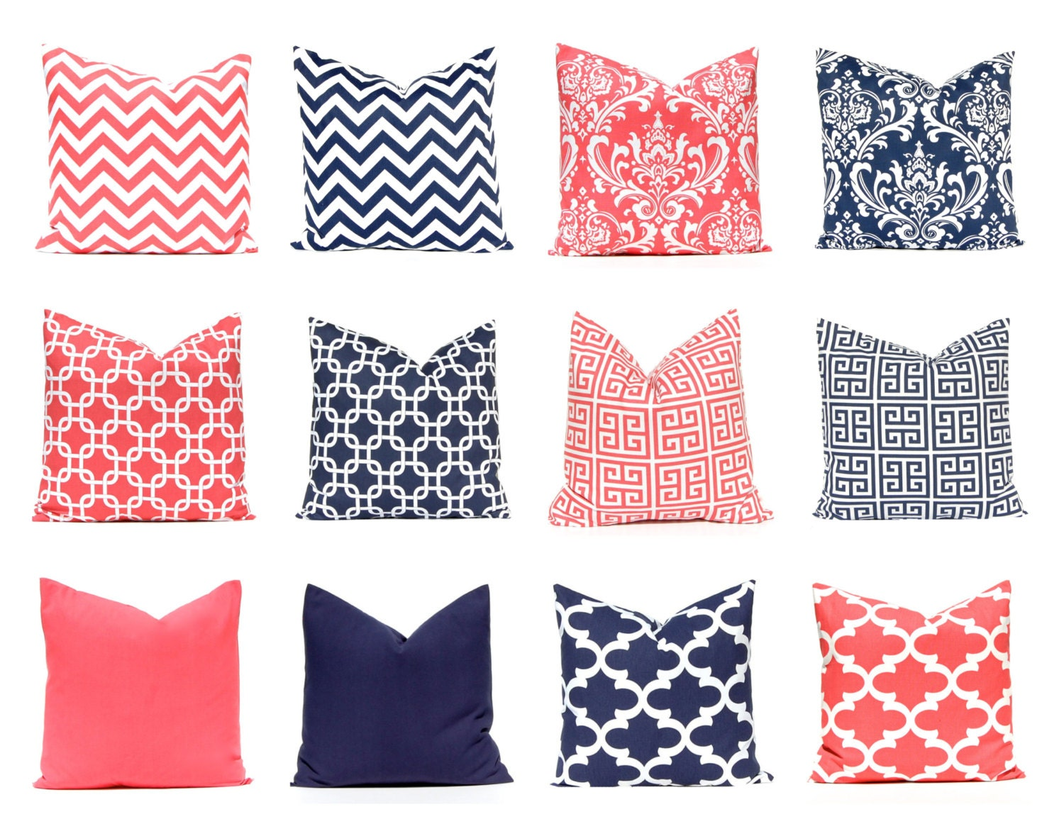 Navy And Coral Bedding Part - 41: ?zoom
