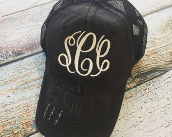 Monogram Hat, Monogrammed Hat, Trucker Hat, Personalized Trucker Hat, Baseball Cap, Monogram Cap, Personalized Baseball Hat, Monogrammed Cap