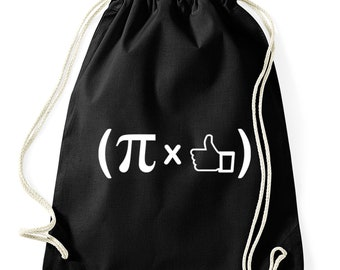Pi times thumbs-Hippster Gym Bag bag Math physics chemistry fun cotton Turn bag
