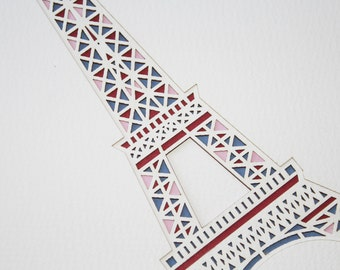 Complex Eiffel Tower Layered Lasercut