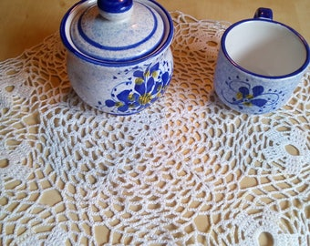 crochet doily centerpiece in pure white round-table rug-handmade-table decoration doilies