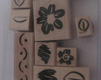 Stampin Up Rubber Stamp Set/ RETIRED 2009 / Scrapbooking / Card Making / Crafting