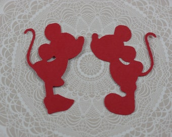 Mickey and Minnie Mouse die cuts, Mickey die cuts, Minnie die cuts, Mickey Cut Outs, Mickey and Minnie birthday