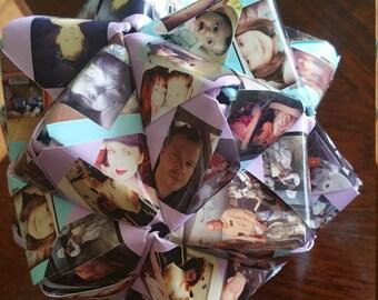 5 Star Photo Ball Modular Origami Aniversary Wedding Gift Memories