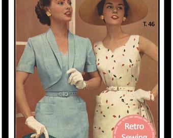 1950s Sheath Dress & Bolero  French Sewing Pattern - Paper Sewing Pattern