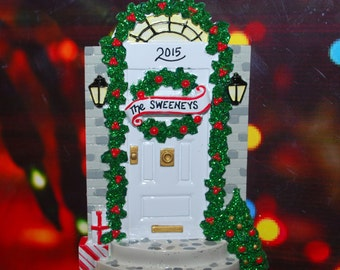 Personalized White Door Ornament