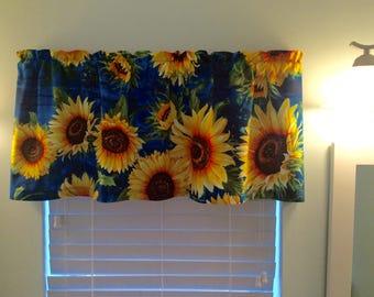 Sunflower Window Valance Sunflowers Sunflower Decor Sunflower Curtains Kitchen  Curtains Bathroom