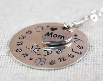 Mothers Necklace, Personalized Necklace for Mom, Grandmothers Name Necklace Sterling Silver Necklace, Personalized Name Necklace