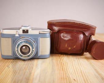 Vintage Film Camera Bilora Bella. Film Camera Bilora Bella 3c. Working Film Camera. Medium Format Viewfinder Film Camera.