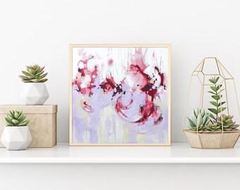 IMPRESIÓN del arte abstracto pintura Arte Original pared abstracto el arte abstracto violeta impresión de Giclee de pintura obras de arte moderno del colgante de pared de hogar decoración