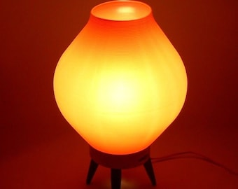MCM Orange Beehive Lamp Atomic Chic Rockabilly Cool