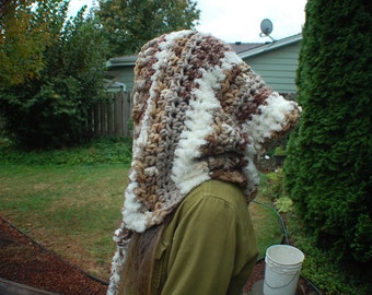 Brown Plush Elf Hood