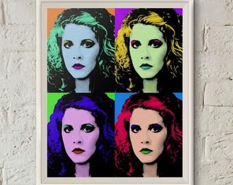 Stevie Nicks Poster, Quartet Poster, Stevie Nicks Art, Fleetwood Mac Print, Andy Warhol Art,Fleetwood Mac Art,Instant Download,Pop Art Print