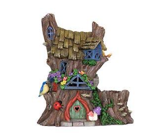 Fairy Accessories  - Solar Fairy House Planter - Miniature Fairy Garden Supplies
