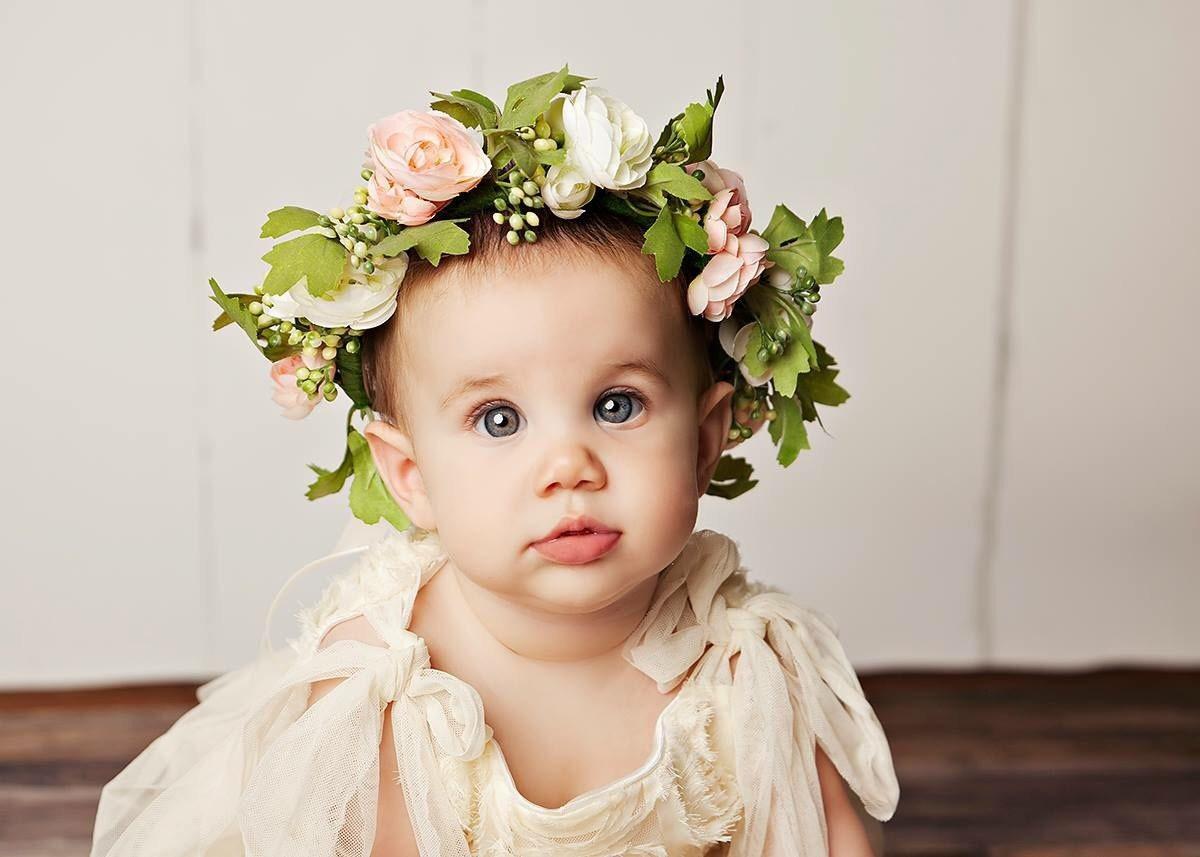 Newborn flower crown baby flower crown baby headpiece zoom izmirmasajfo Gallery