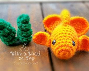 PATTERN ONLY Crochet Goldfish Pattern Goldfish Only PDF Instant Download