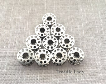 Class 15 Bobbins Metal Pack of 10 for Sewing Machines