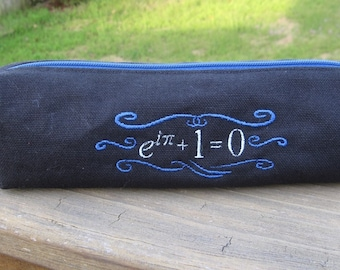 Euler's Identity Zippered Pencil Pouch