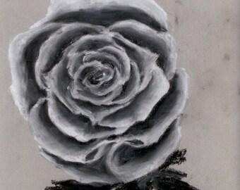 Original Artwork Pastel - Rose