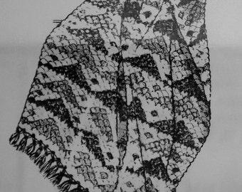 Vintage PDF Crochet Afghan pattern Design 7259
