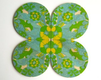 Objectify Retro Coasters - Set of 4