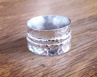 Sterling Silver 925 Ring, Silver Spinning Ring, Handcrafted Silver Ring