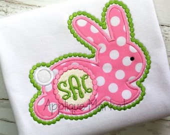 Machine Embroidery Design Applique Bunny Silhouette Girl INSTANT DOWNLOAD
