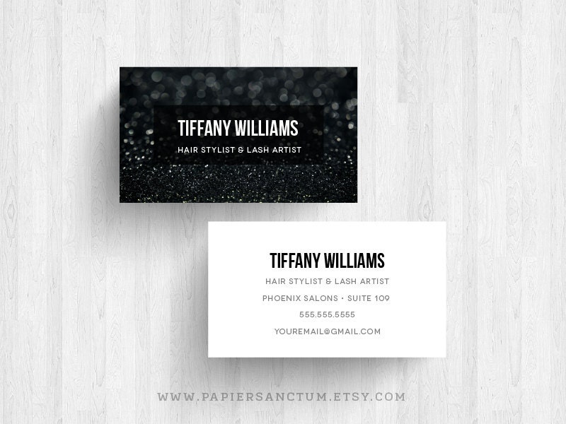 or 500 Custom Glitter Business Card Calling Card Makeup Artist Card